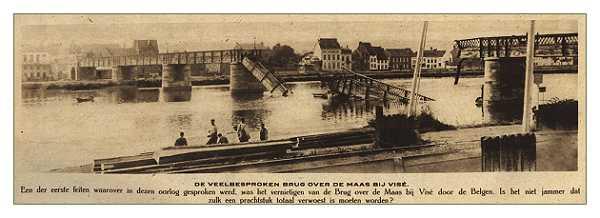 Le pont de Visé détruit
